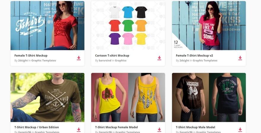 T-Shirt Mockup PSD- Envato