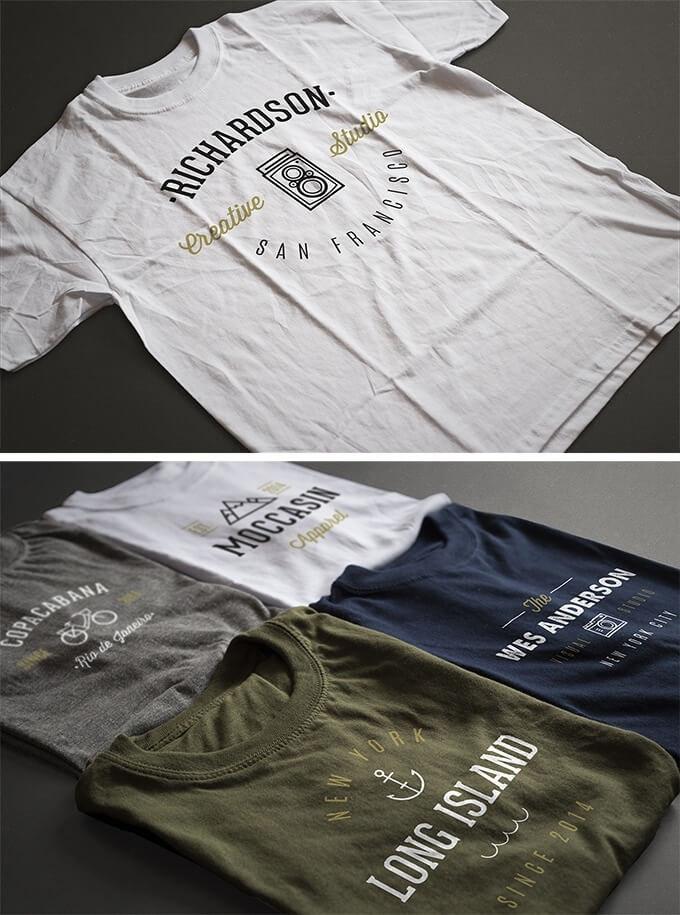 Free T-Shirt Mockup Template-Antonio Padilla's Photorealistic T-shirt templates