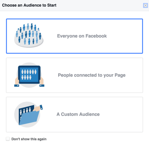 Facebook marketing strategy: choose audience