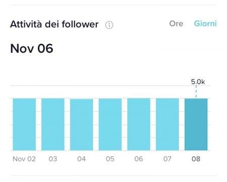 attività follower giorni tiktok