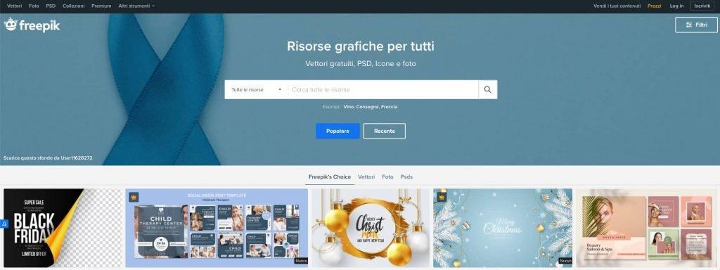 freepik: scaricare immagini gratis uso commerciale