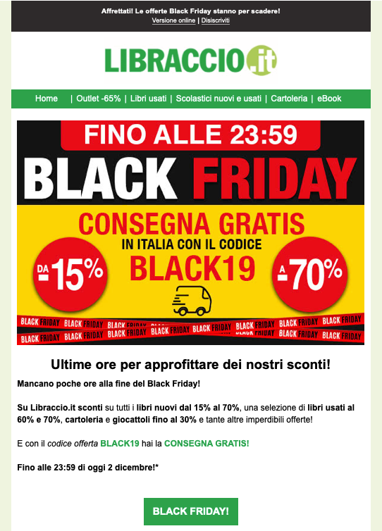 email template black friday