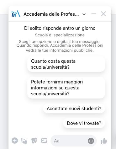 chatbot facebook customer service