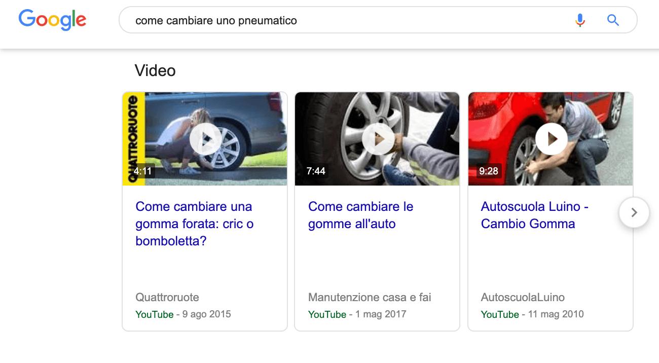 risultati Youtube