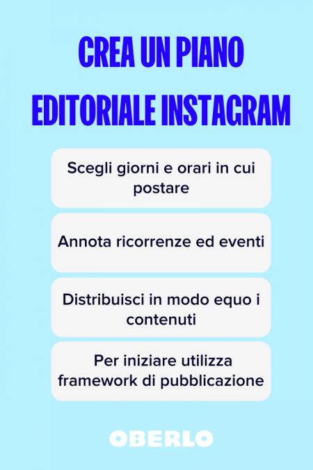 piano editoriale instagram