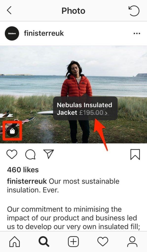 Instagram Shop tagga i prodotti