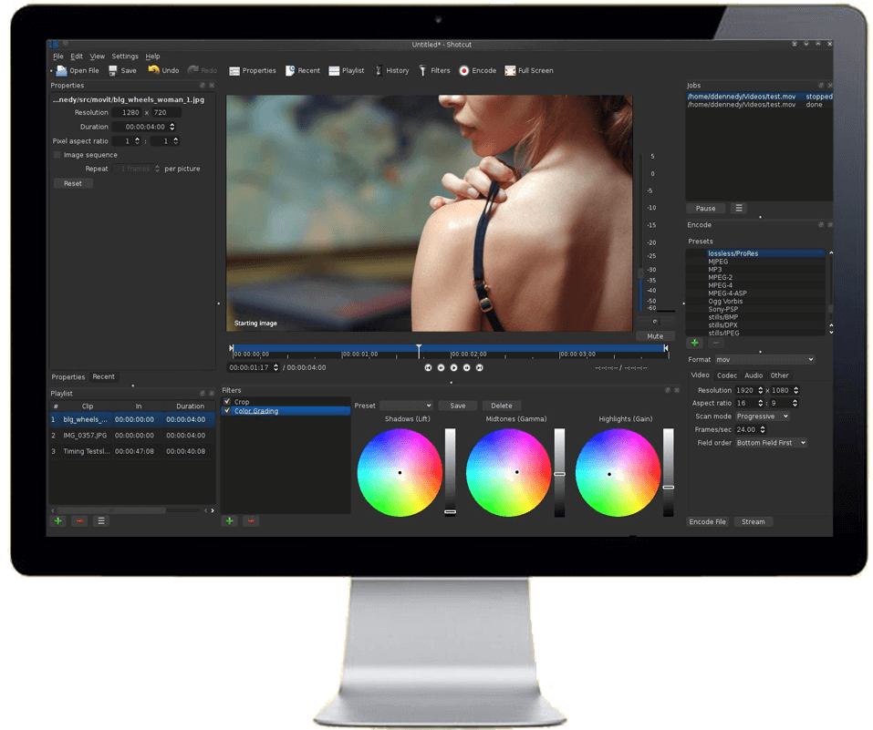 Shotcut software gratuito di video editing