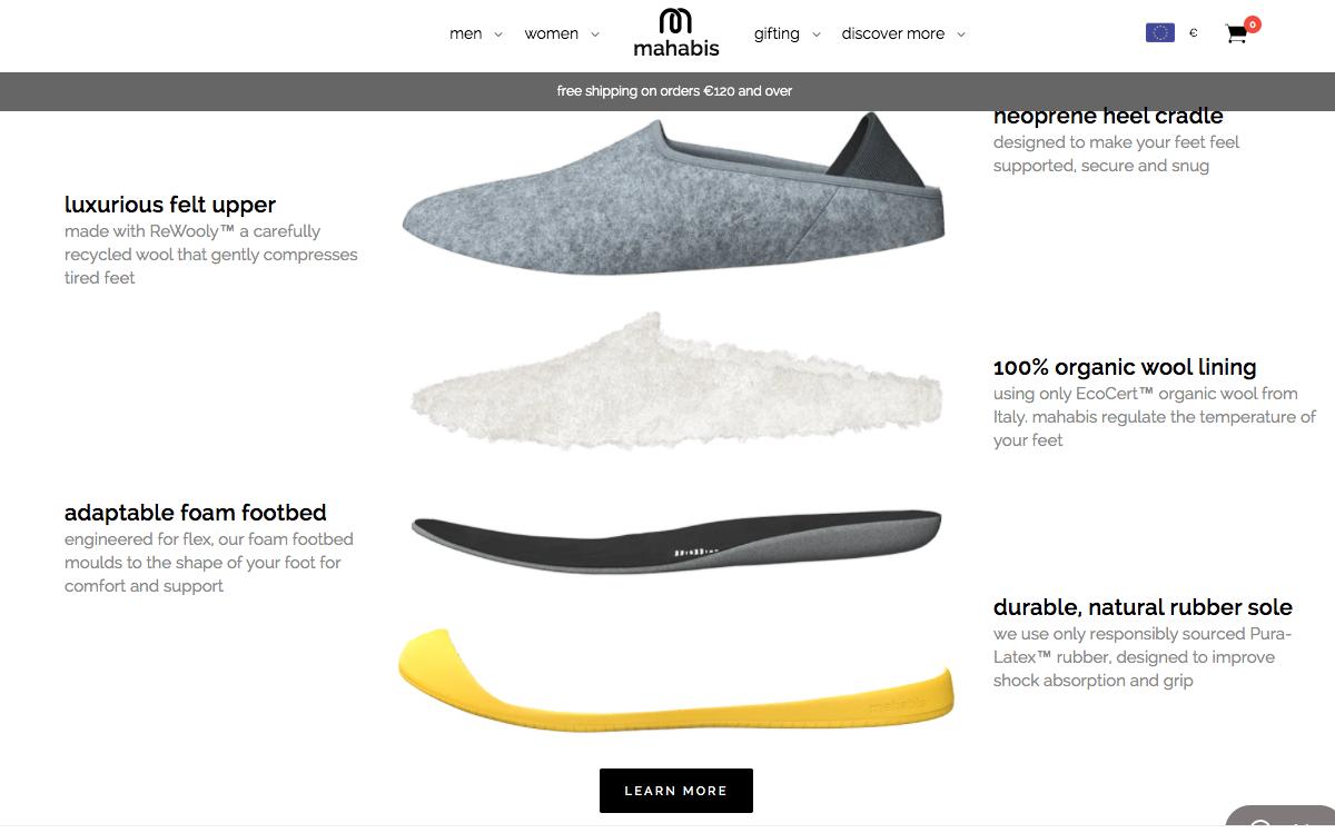 Exemple site produits