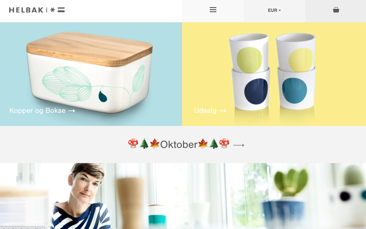 Helbak, design de site