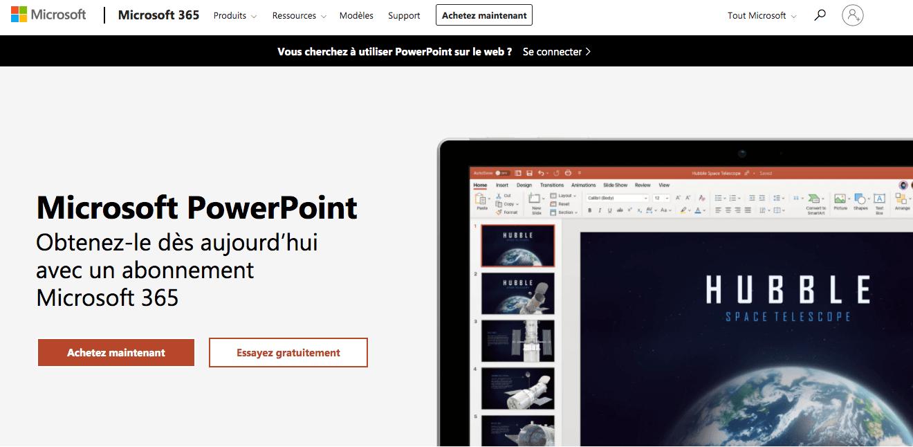 présentation microsoft powerpoint