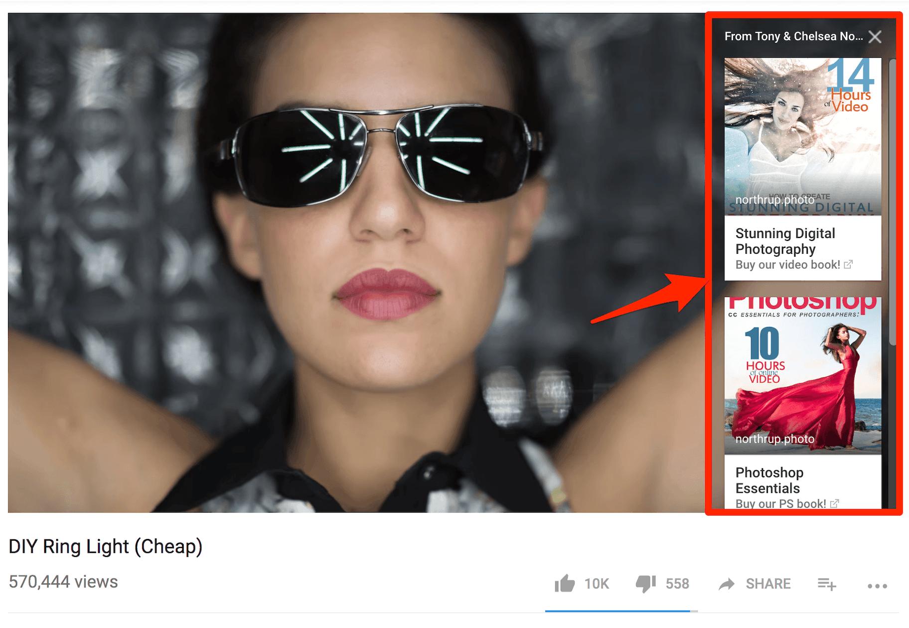 Sponsored Card Publicité Youtube