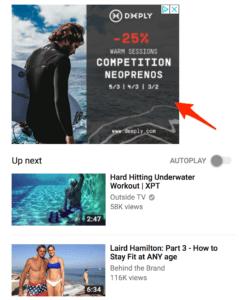 Exemple Publicité YouTube Ad