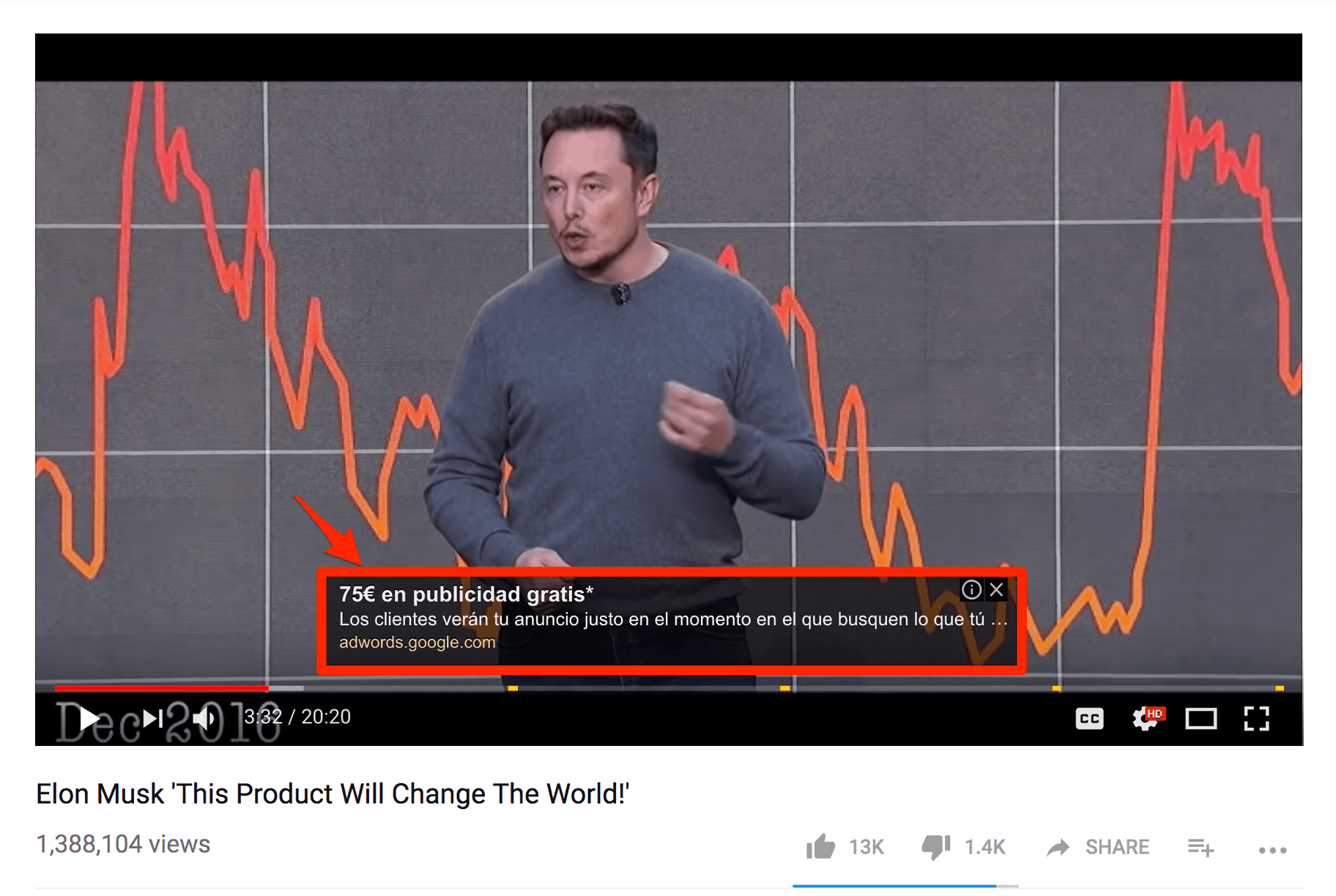Exemple publicité YouTube Ad - Bannière