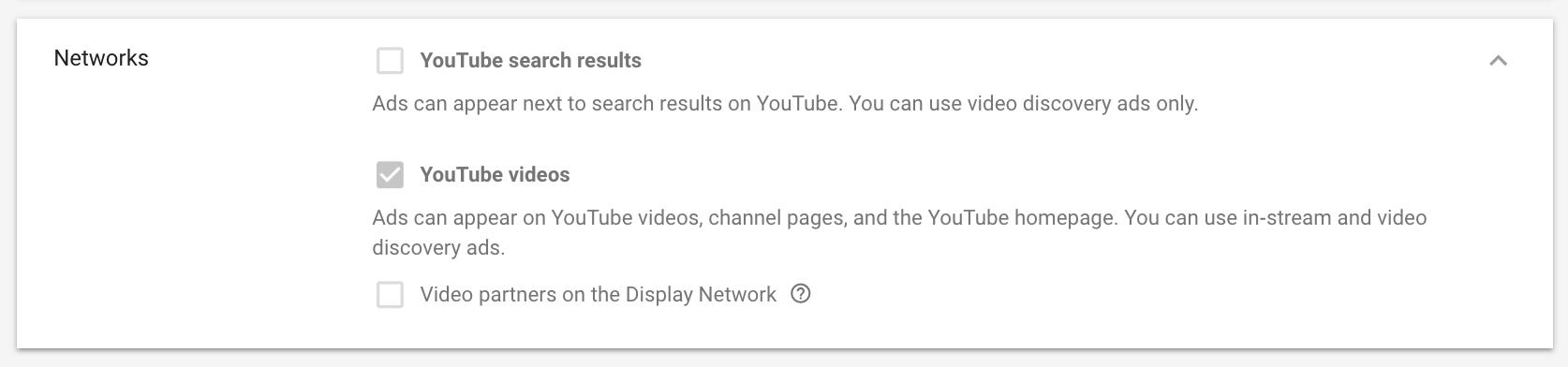 Réseau YouTube Ads Networks