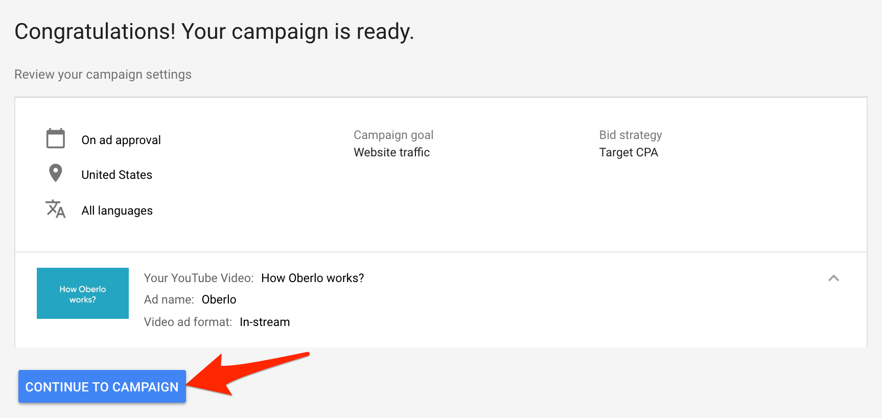 YouTube Ads Campaign