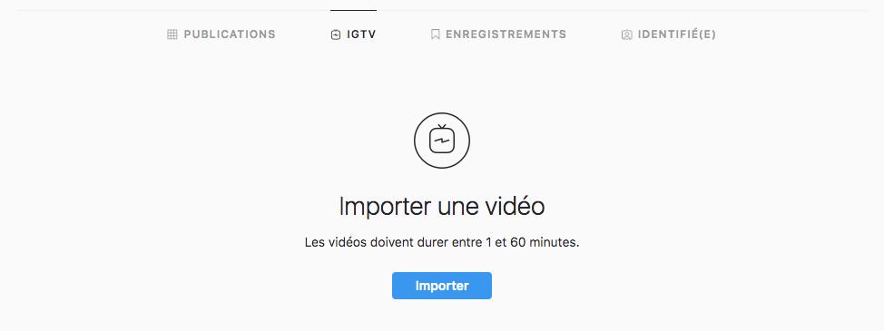 importer une vidéo sur Instagram