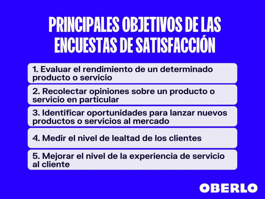 principales objetivos de las encuestas de satisfaccion