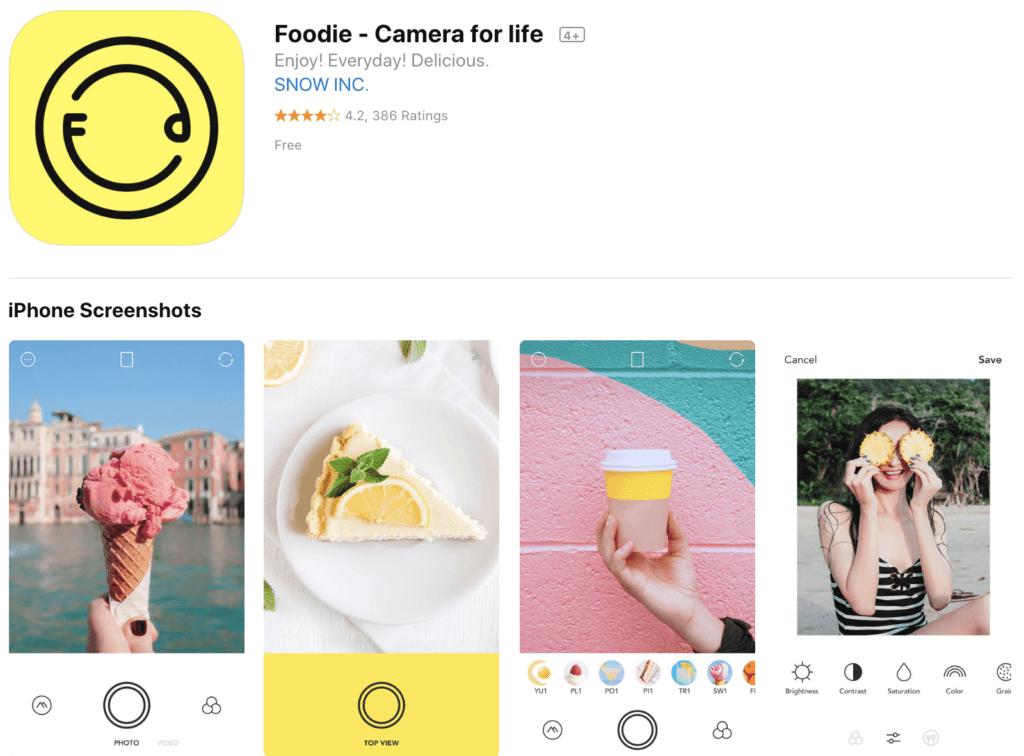 app to edit foodie photos