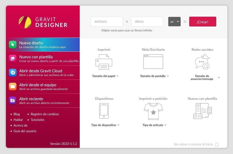 Programmi di grafica per PC: Gravit Designer