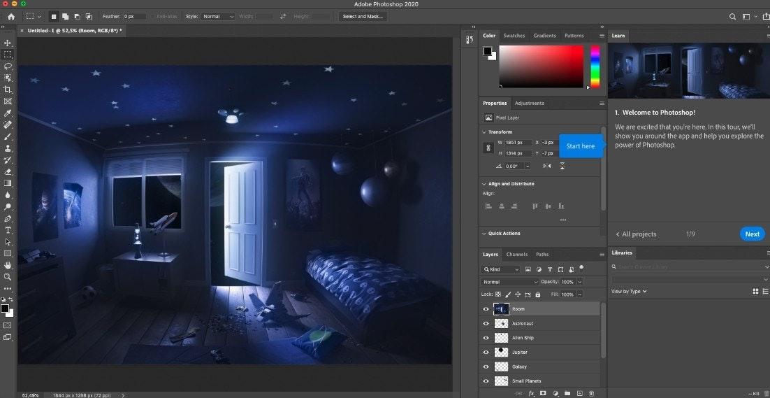 Adobe Photoshop - Uno de los mejores programas de diseño gráfico