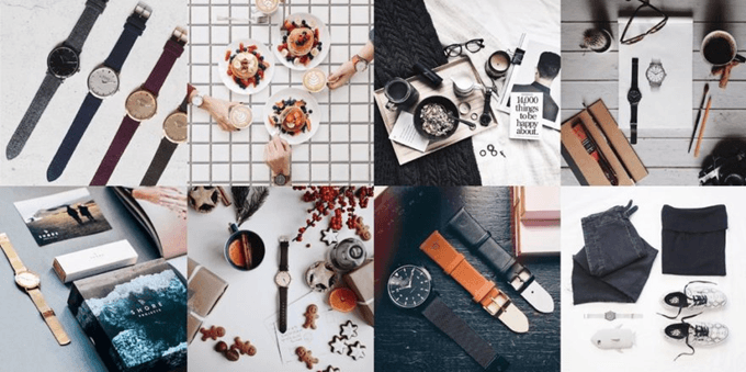 marketing no Instagram - mood board