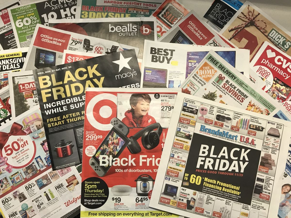 Black friday shopping tips newspaper