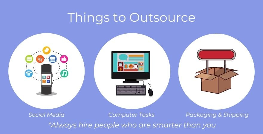 outsource tasks to escape the rat race