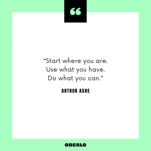 How to Be Your Own Boss: Arthur Ashe Quote