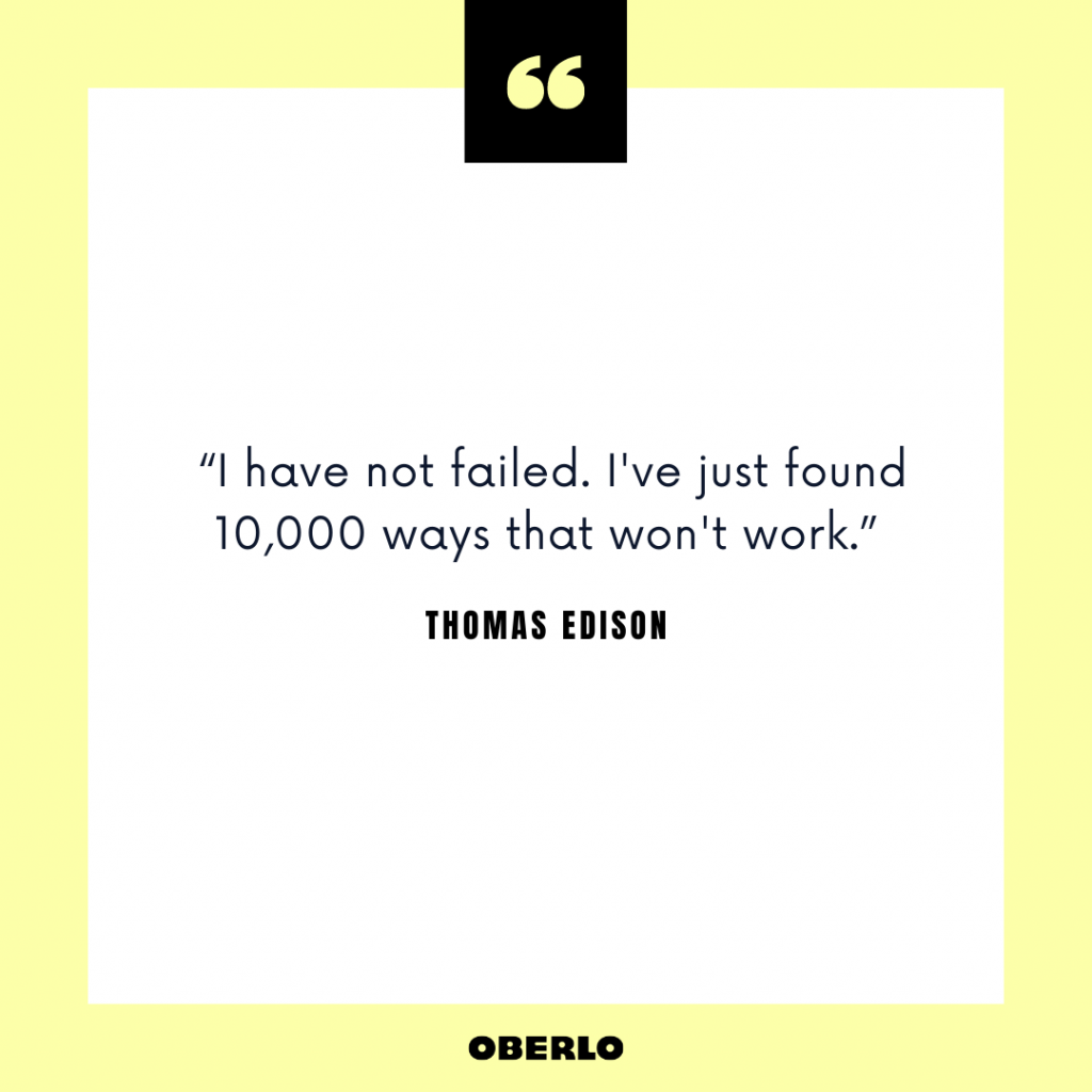 Entrepreneurial Mindset: Thomas Edison Quote