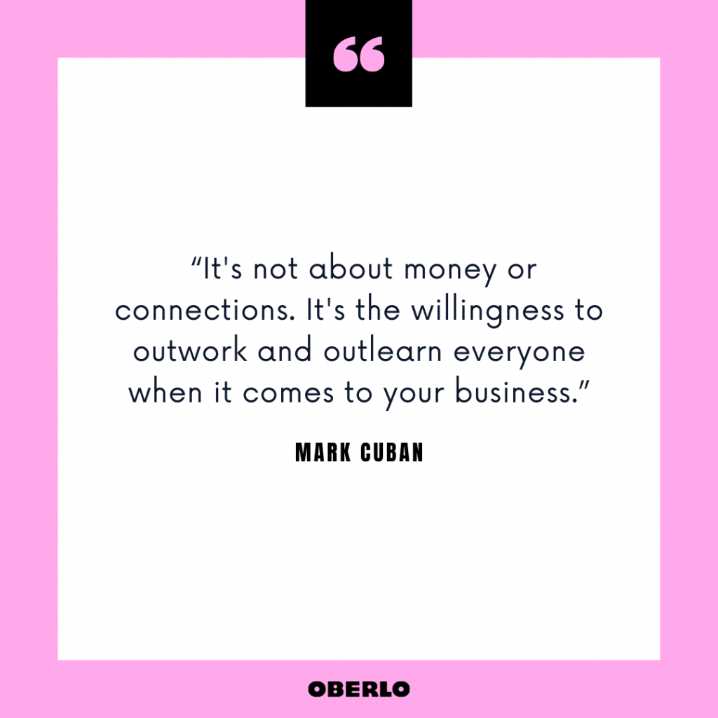 Entrepreneurial Thinking: Mark Cuban Quote