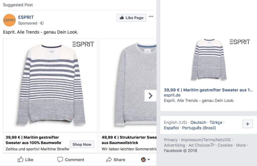 pubblicità facebook pixel