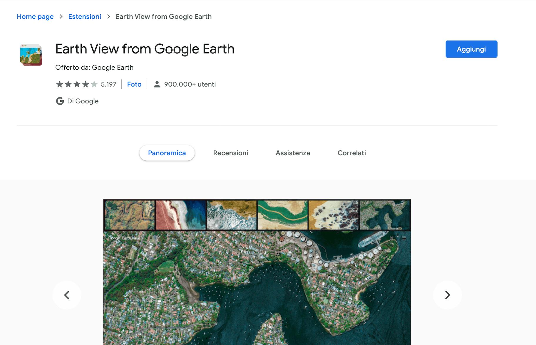 estensioni google chrome earth