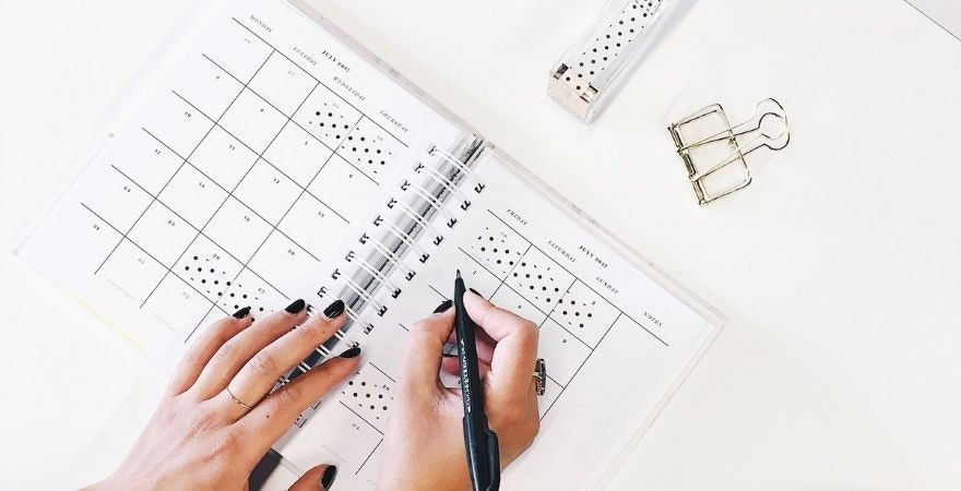 calendario di social media marketing