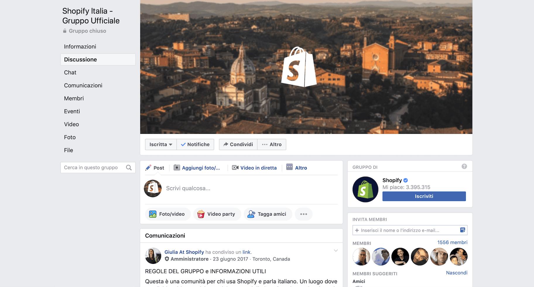 Community di dropshipping: Facebook