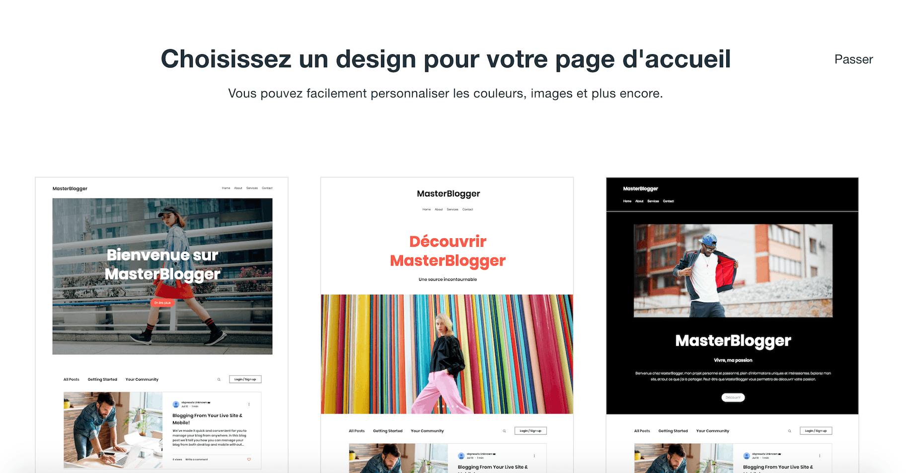 Créér un blog avec Wix