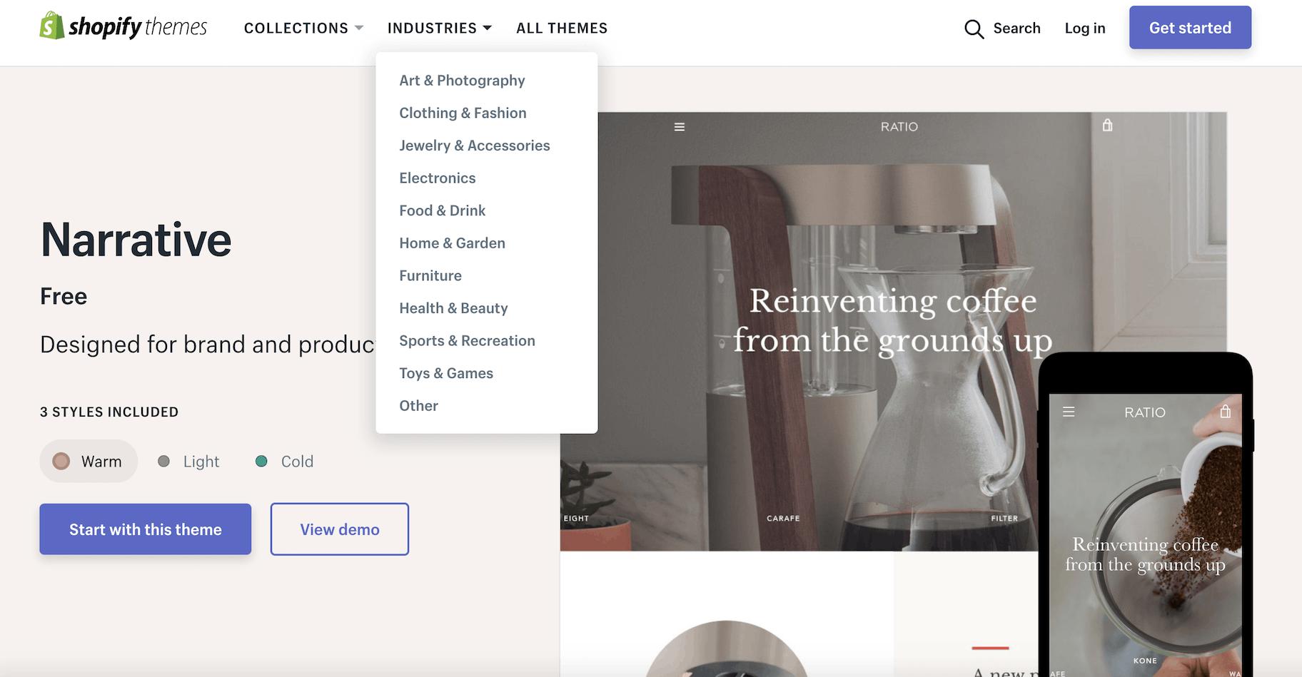 Créer site Shopify