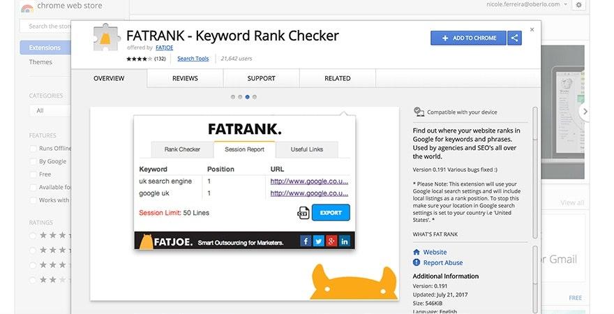 Fat Rank - SEO Tools