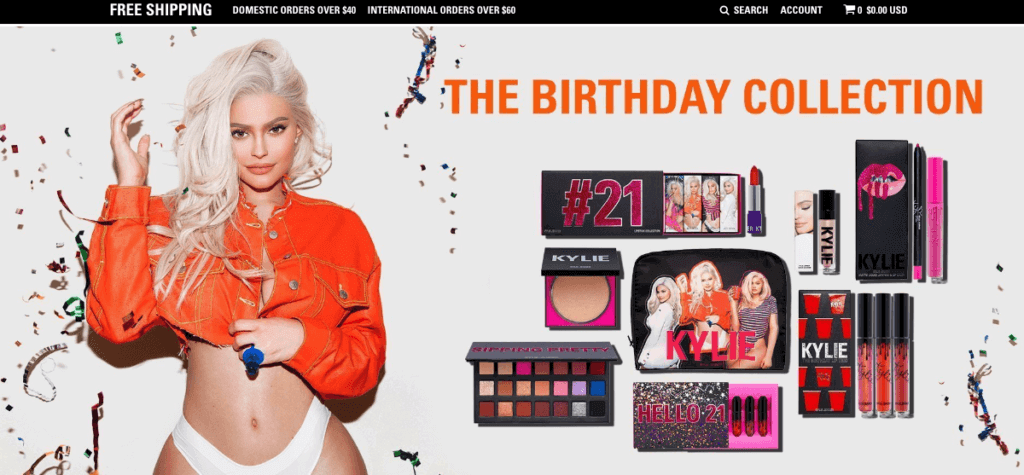 Kylie Cosmetics Shopify Store