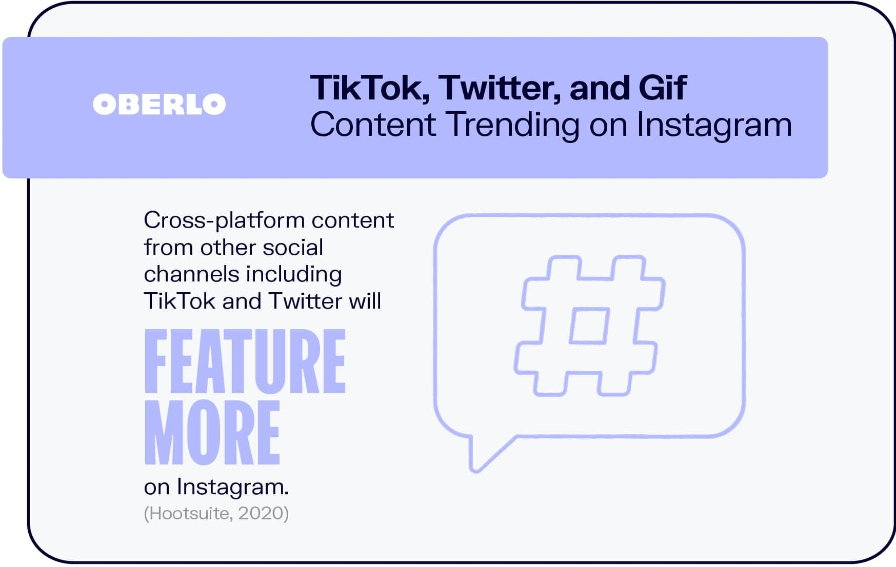 TikTok, Twitter, and Gif Content Trending on Instagram