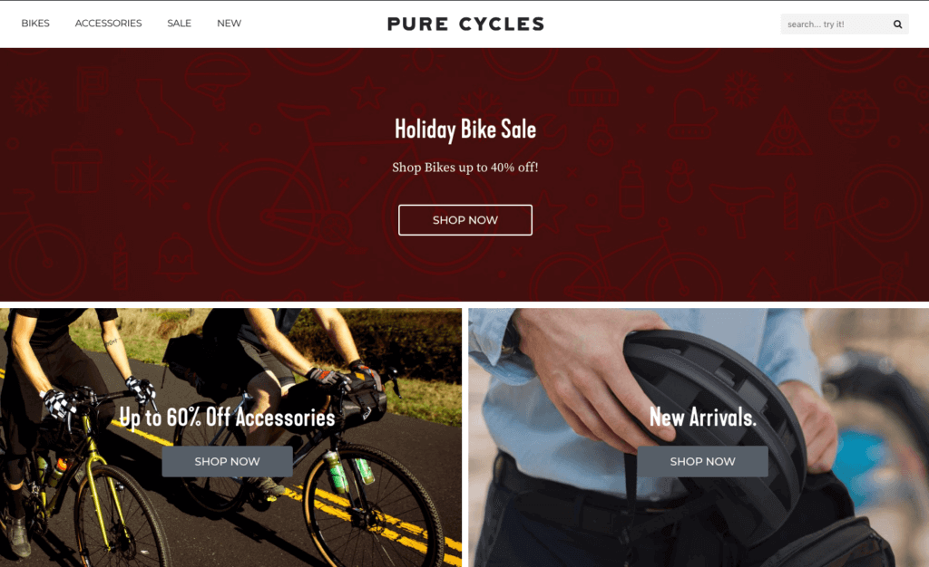 Pure Cycle Shopify Store