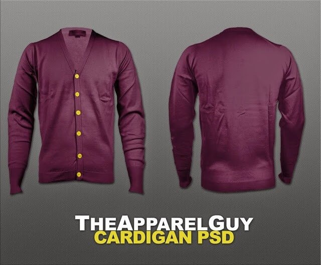 Cardigan PSD - The Apparel Guy Cardigan PSD