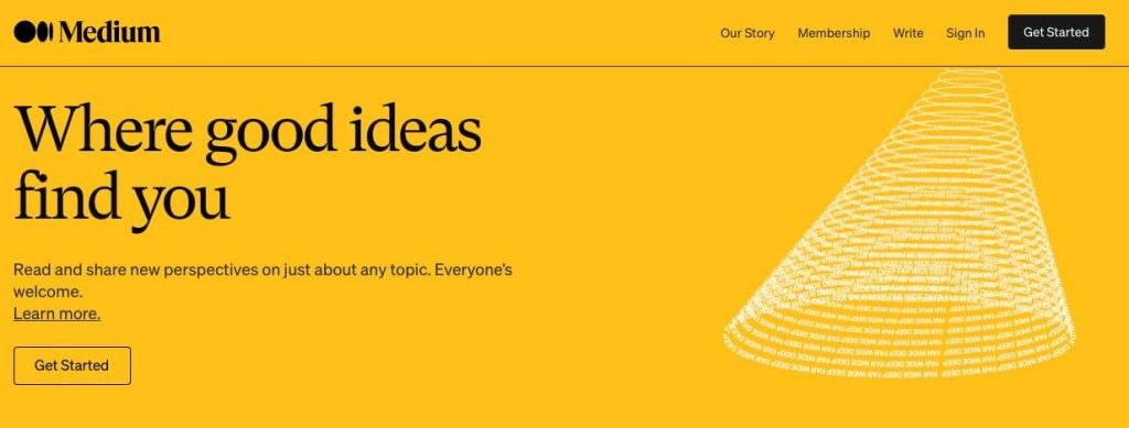 medium: strumenti per creare un blog