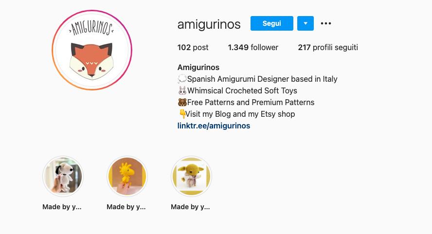 vendere template Instagram