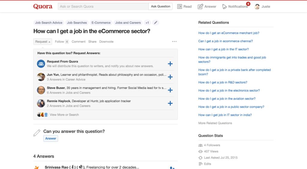 ecommerce jobs quora