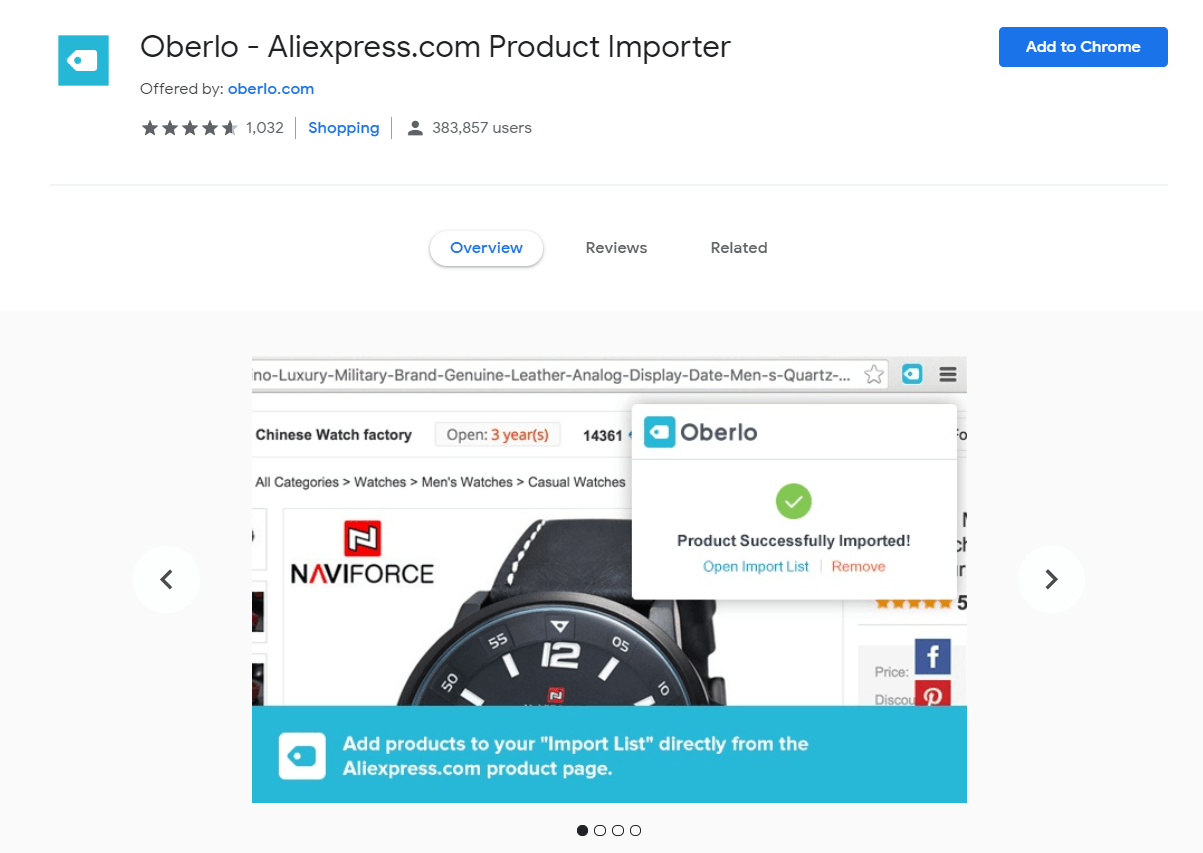 AliExpress Product Importer extension