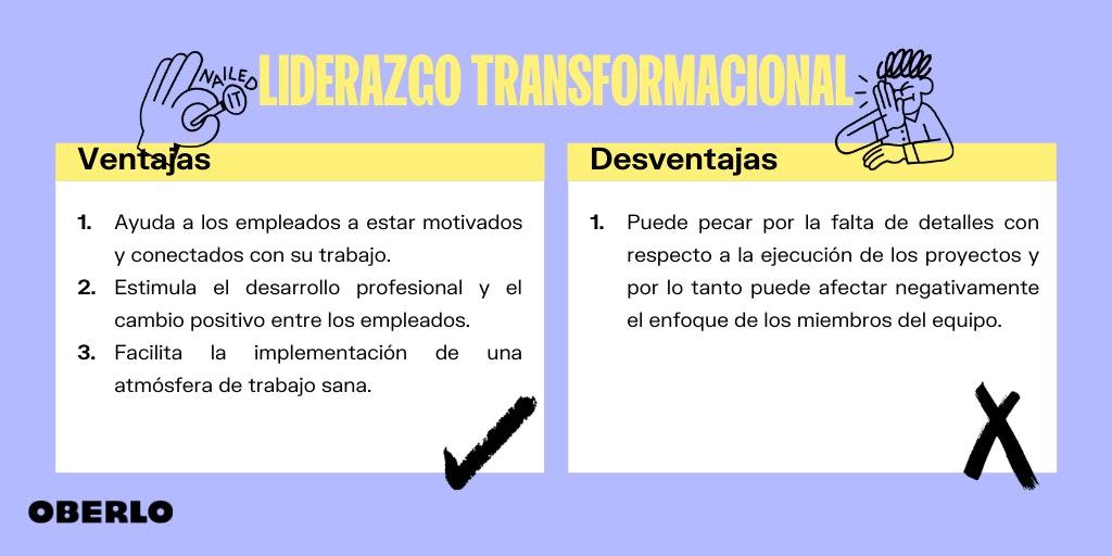 liderazgo transformacional - ventajas y desventajas