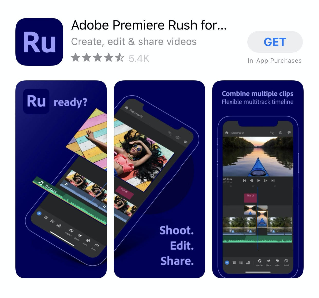 Adobe premier rush mobile editing