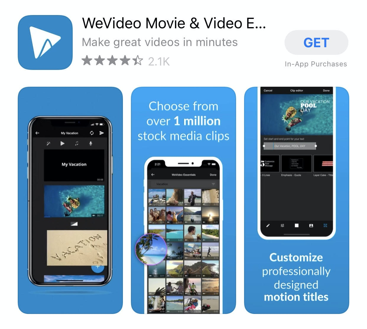 Wevideo smartphone editing software