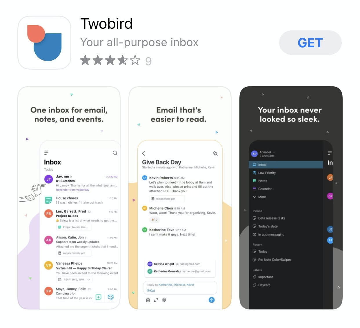 Twobird app for brain