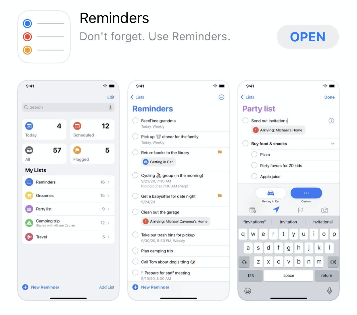 Apple reminders increase productivity
